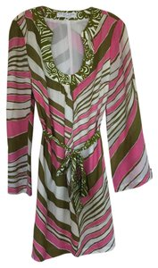 Trina Turk short dress Pink, white, green on Tradesy