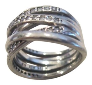 PANDORA Authentic Pandora Silver ALE Entwined Clear Cz Ring 190919CZ size 6