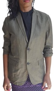 Theory Jackets Linen Tops olive green Blazer