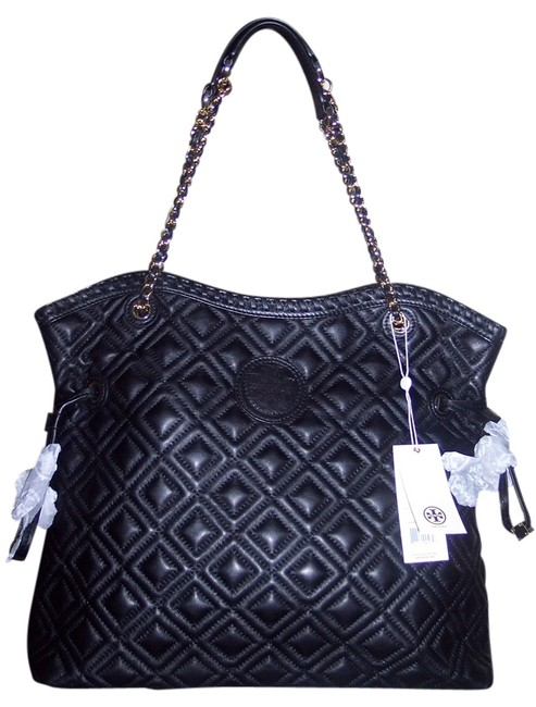 Item - Marion Slouchy Black Quilted Leather Tote