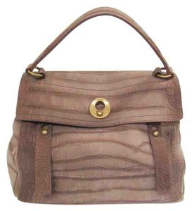 Saint Laurent Ysl Muse Two Satchel in Taupe
