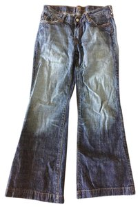 7 For All Mankind Trouser/Wide Leg Jeans-Medium Wash
