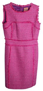 Tory Burch short dress pink Tweed on Tradesy