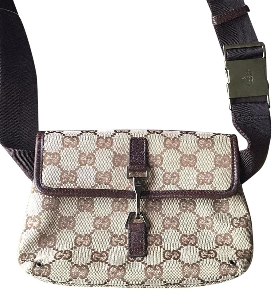 1d81fbe67 Gucci Fanny Pack Brown Camvas / Leather Cross Body Bag - Tradesy
