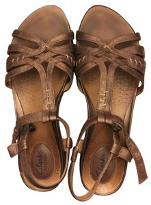 Clarks Comfortable brown / bronze Sandals