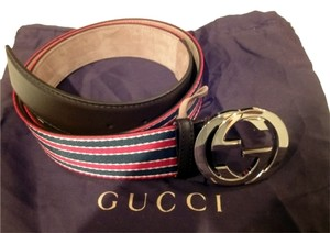 efeb81916d05 Gucci Brand New and Authentic GUCCI GG Logo Buckle and Green White Red  Canvas