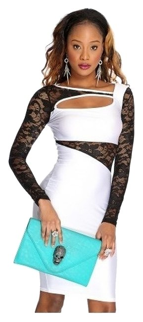 Preload https://img-static.tradesy.com/item/1537276/white-and-black-small-floral-lace-mesh-short-night-out-dress-size-4-s-0-0-650-650.jpg