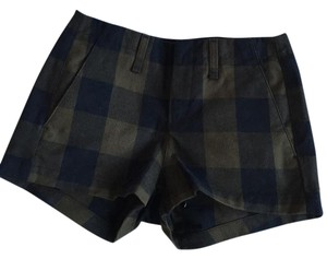 Rag & Bone Dress Shorts Army green & black plaid