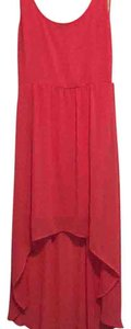 Bright Coral Maxi Dress by Forever 21