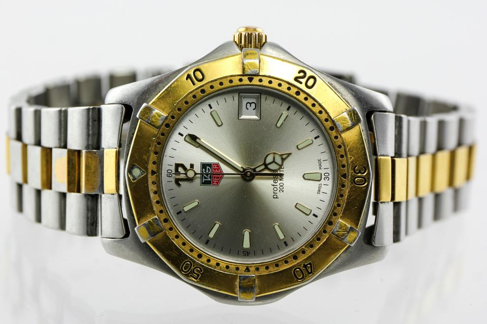 tag heuer gold tone and stainless steel professional two watch tradesy. Black Bedroom Furniture Sets. Home Design Ideas