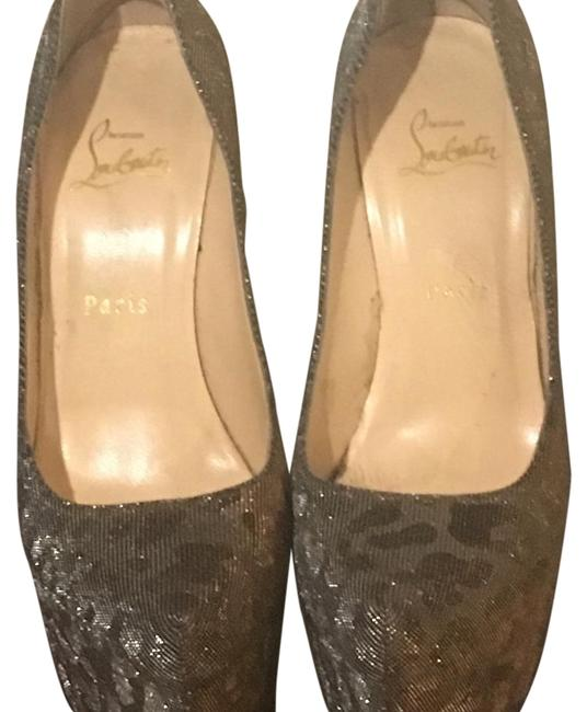 Item - Silver Gold Platforms Size US 8.5 Narrow (Aa, N)