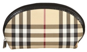 Burberry Burberry Cream Multicolor Plaid Cosmetic Bag