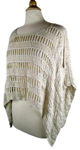 AllSaints Open Knit Poncho Slouchy Sweater