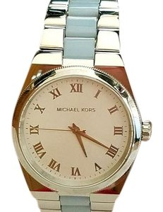 MICHAEL Michael Kors Michael Kors Channing Chambray Acetate and Stainless Steel Bracelet Watch MK6150