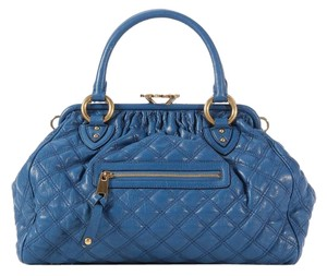 Marc Jacobs Quilted Gold Chain Blue Mj.k0406.01 Shoulder Bag