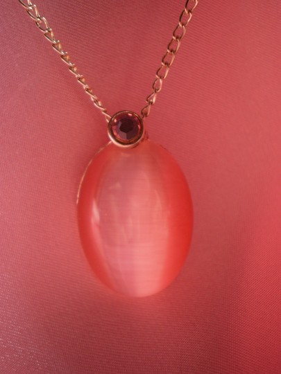 Other Pink opaline & crystal necklace