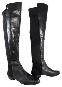 Vince Camuto Boot Leather Round Toe Black Boots