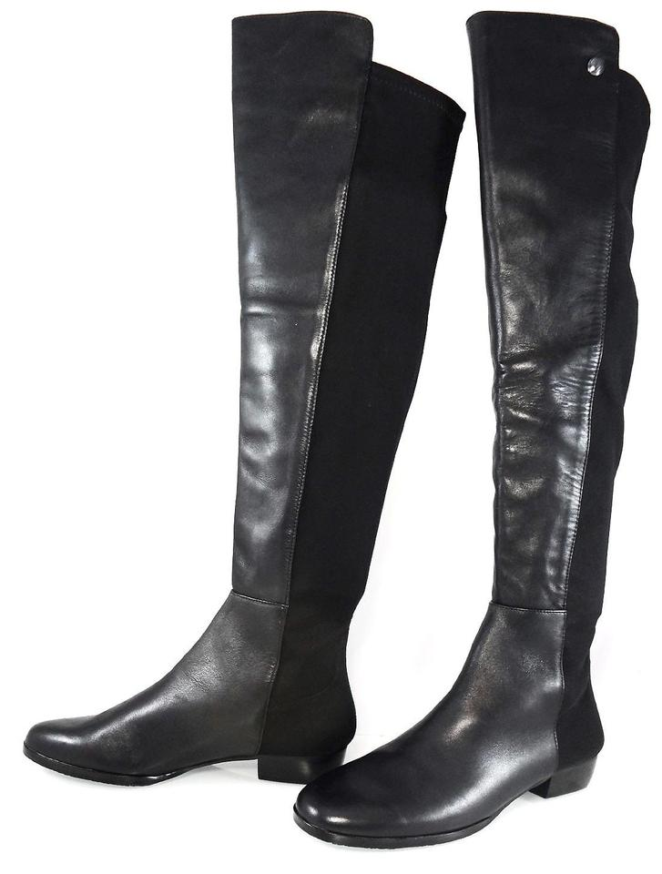 bc36f145f35 Vince Camuto Black Karita 50/50 Leather Stretch Over The Knee Flat Womens  Boots/Booties Size US 6.5 Regular (M, B) 51% off retail
