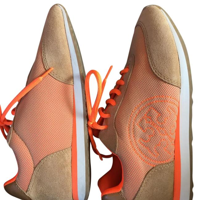 Item - Tan and Orange Sneakers Size US 8 Regular (M, B)