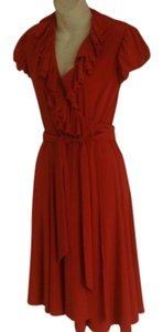 Lauren Ralph Lauren Wrap Rust Color Dress