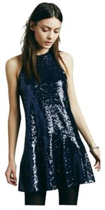 Free People Sequins Cocktail Formal Mini Dress