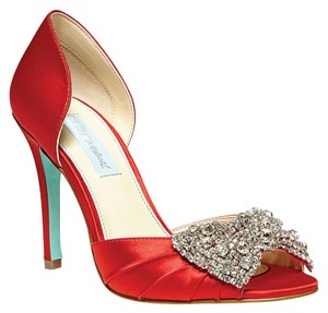 Betsey Johnson Gown Red Pumps