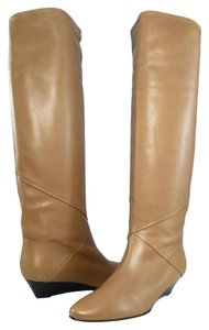 Claudia Ciuti Boot Leather Wedge Light Brown Boots