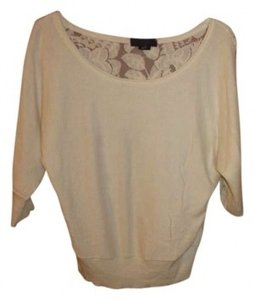 American Eagle Outfitters Top Creamy White with Lace Back