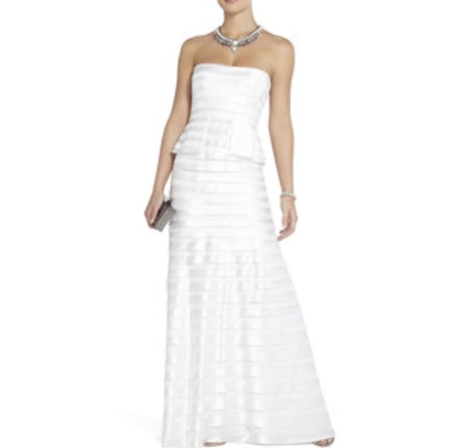 Item - White Satin Modern Wedding Dress Size 0 (XS)