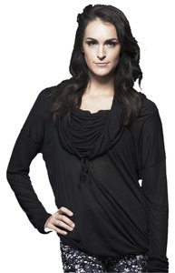 Vimmia Yoga Sheer Coverup Athletic Wear Hood Off Shoulder Tunic