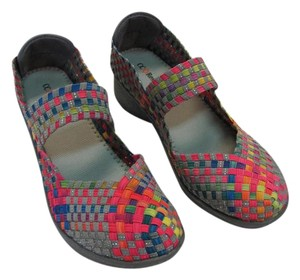 CC Resorts New Padded Footbed Red, Yellow, Blue, Gray, Green, Pink Wedges