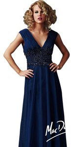 Mac Duggal Couture Evening Peacock Size 14 Midnight Dress