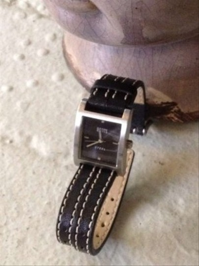 Roots Black Leather Watch