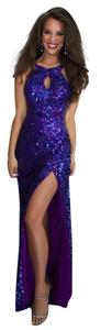 Mac Duggal Couture Sequence Size 4 Prom Dress