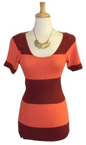 Free People short dress Orange and Dark Red/Maroon on Tradesy