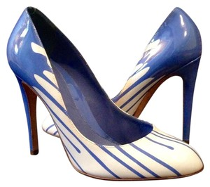 Sergio Rossi Blue white Pumps