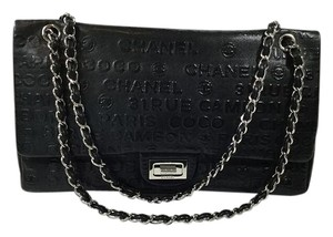 Chanel Reissue Jumbo Leather Embossed Shoulder Bag