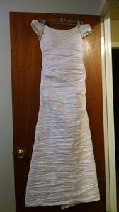 Alex Evenings Alex Evenings Taffeta Mermaid Gown Wedding Dress