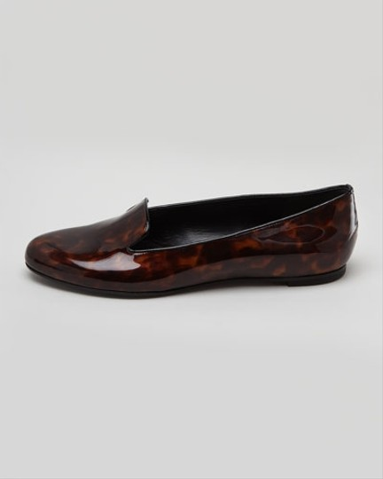 Alexander McQueen Patent Leather Tortoise Flats