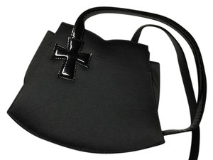 Christian Lacroix Unique Heart Cross Patent Leather Little Purse Shoulder Bag
