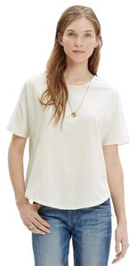 Madewell Oxford Panel T Shirt IVORY