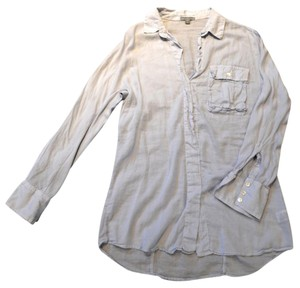 James Perse Boyfriendshirt Button Down Shirt Blue