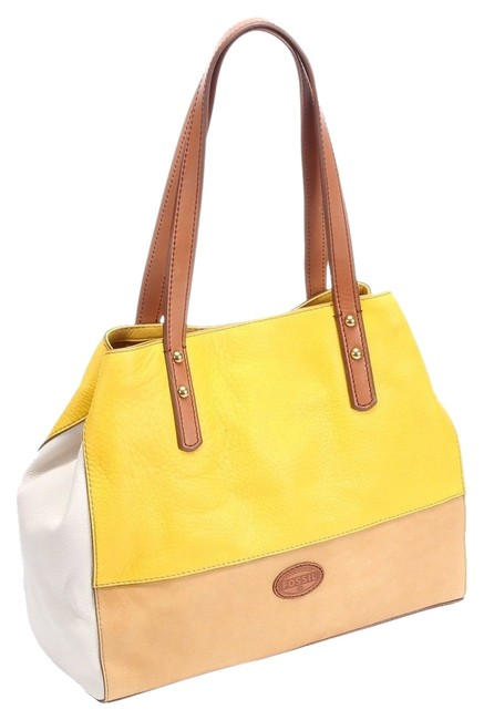 Item - Bag Zoey Shopper Purse Zb5677700 Yellow Multi Leather Tote
