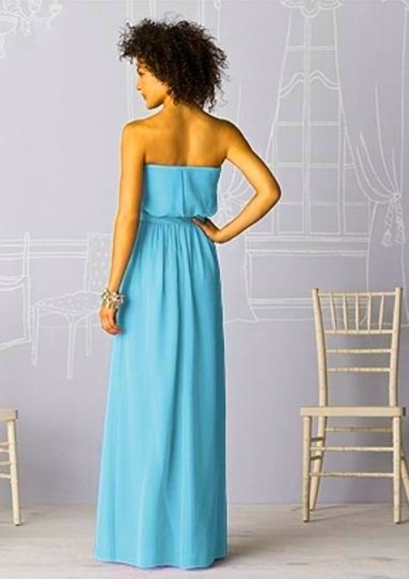 After Six Full Length Strapless Chiffon Dress
