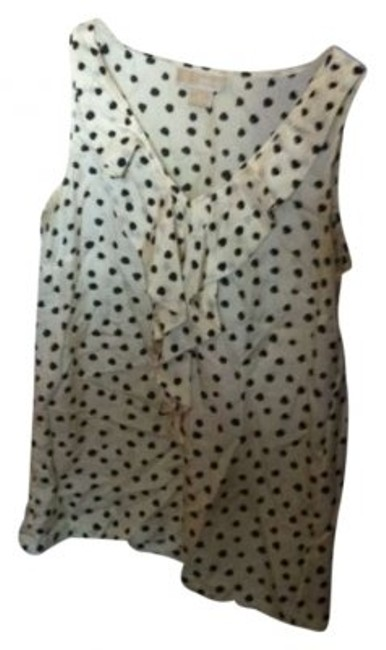Preload https://item5.tradesy.com/images/michael-kors-off-white-and-black-polka-dot-tank-topcami-size-6-s-153779-0-0.jpg?width=400&height=650