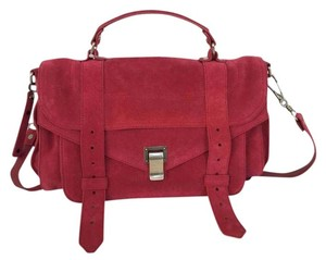 Proenza Schouler Suede Satchel in Raspberry-Red