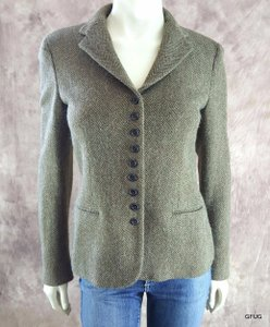 Ralph Lauren Ralph Lauren Black Label Brown Green Lambswool Alpaca Woven Blazer Jacket