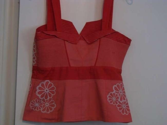 Anthropologie Red Top Coral