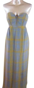 Grey and yellow Maxi Dress by Anthropologie