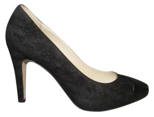 Chanel Suede Classic Heels Black Pumps